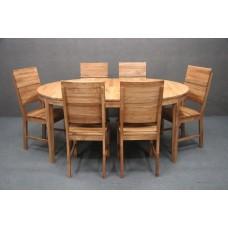B 5182 STÓŁ Ø120-170 + 6x Krzesło 103